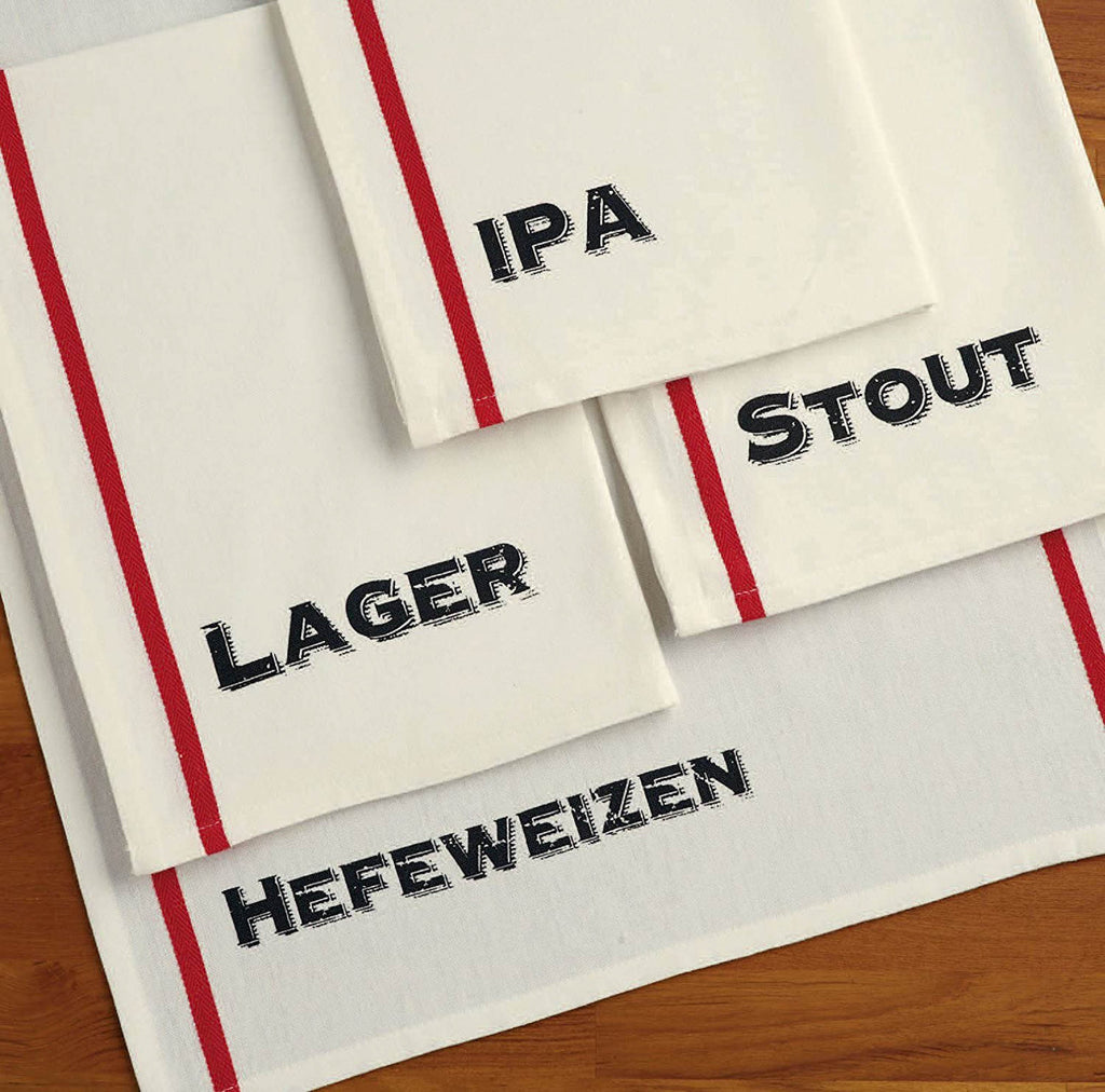 DII Assorted Beer Pub Print Dishtowel (Set of 4)