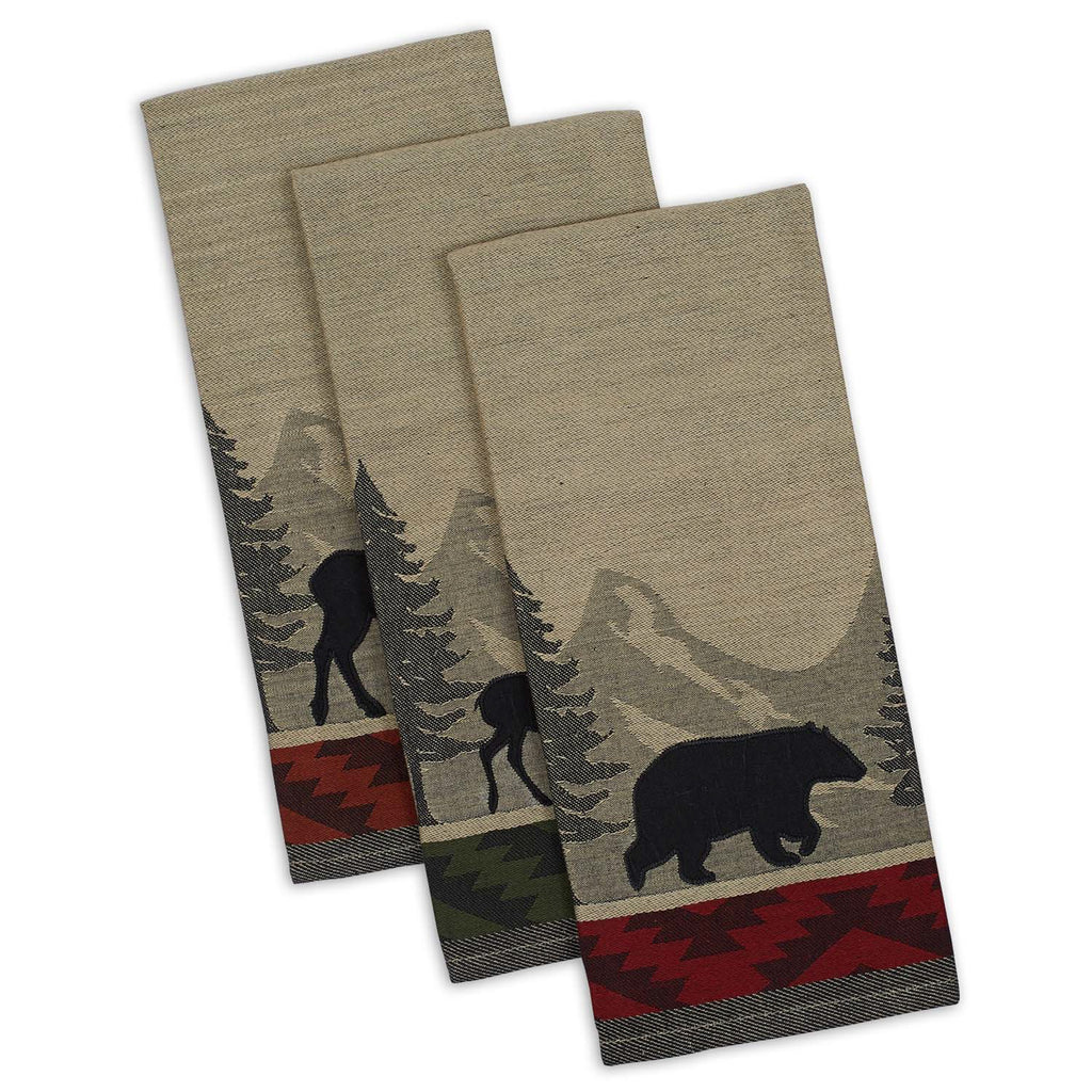 Walk In The Woods Jacquard Dishtowel Set/3