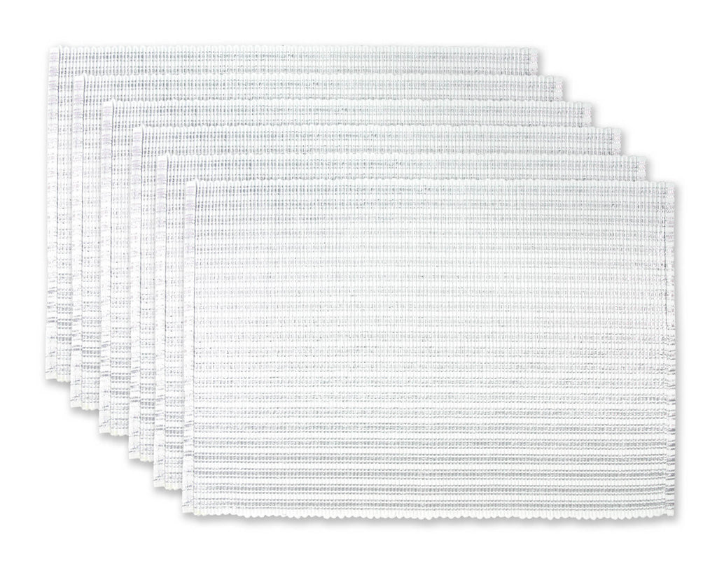 Mt Silver Stripe Ribbed Placemat Set/6