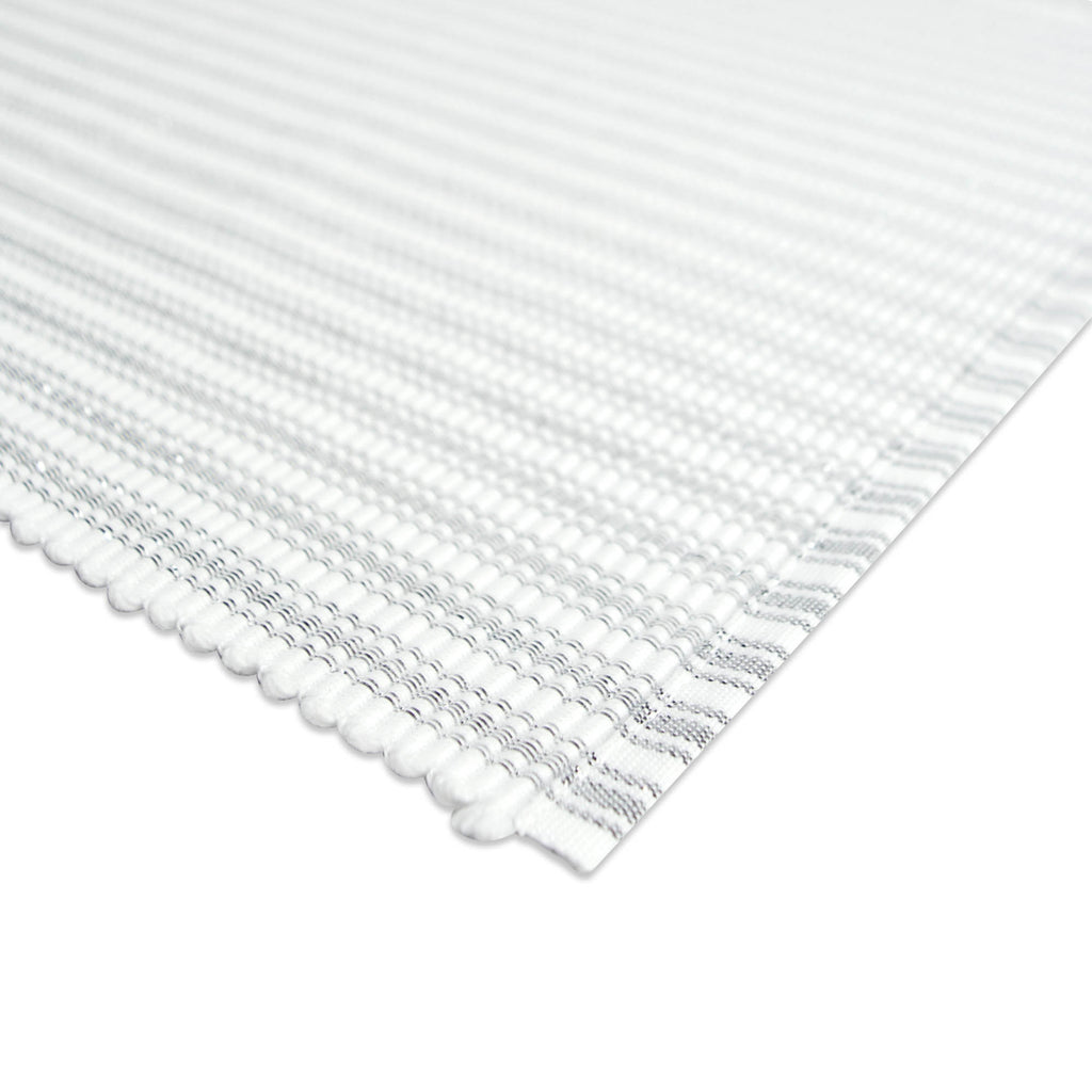 DII Mt Silver Stripe Ribbed Placemat (Set of 6)