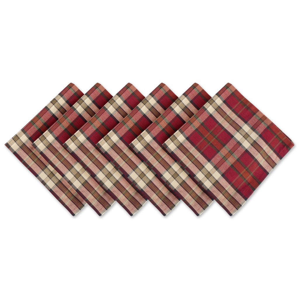Campfire Plaid Napkin Set/6