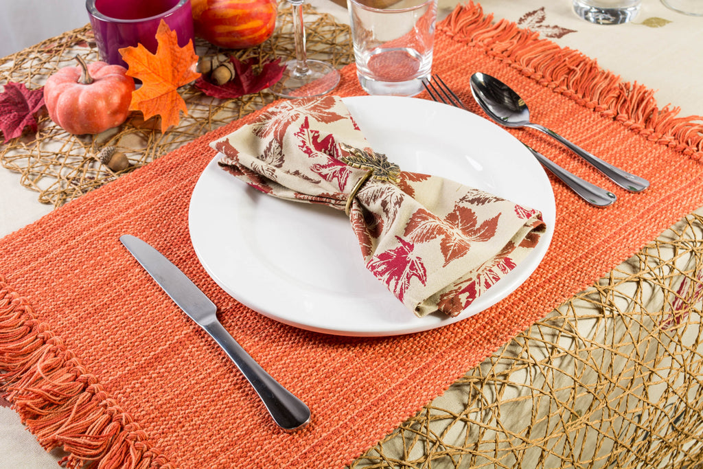 DII Rustic Leaves Napkin (Set of 6)