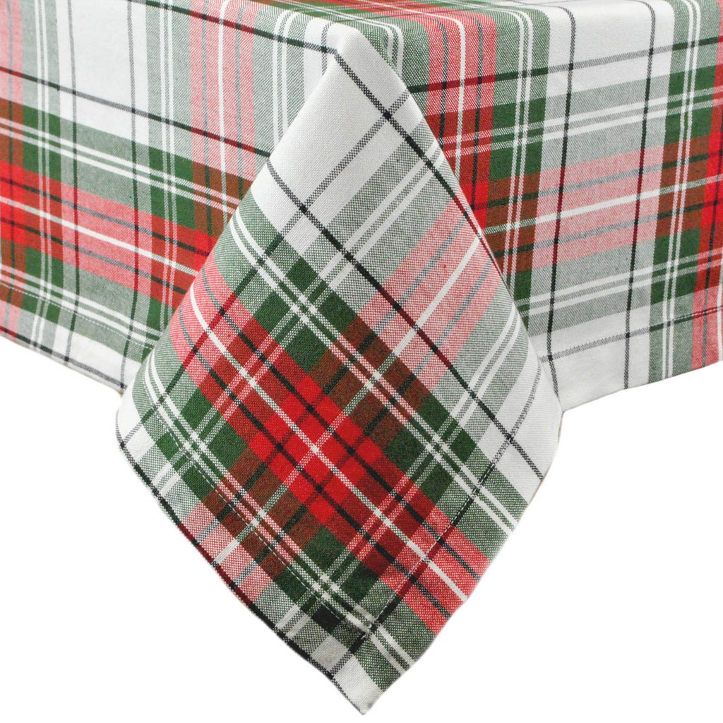 Christmas Plaid Tablecloth 52x52