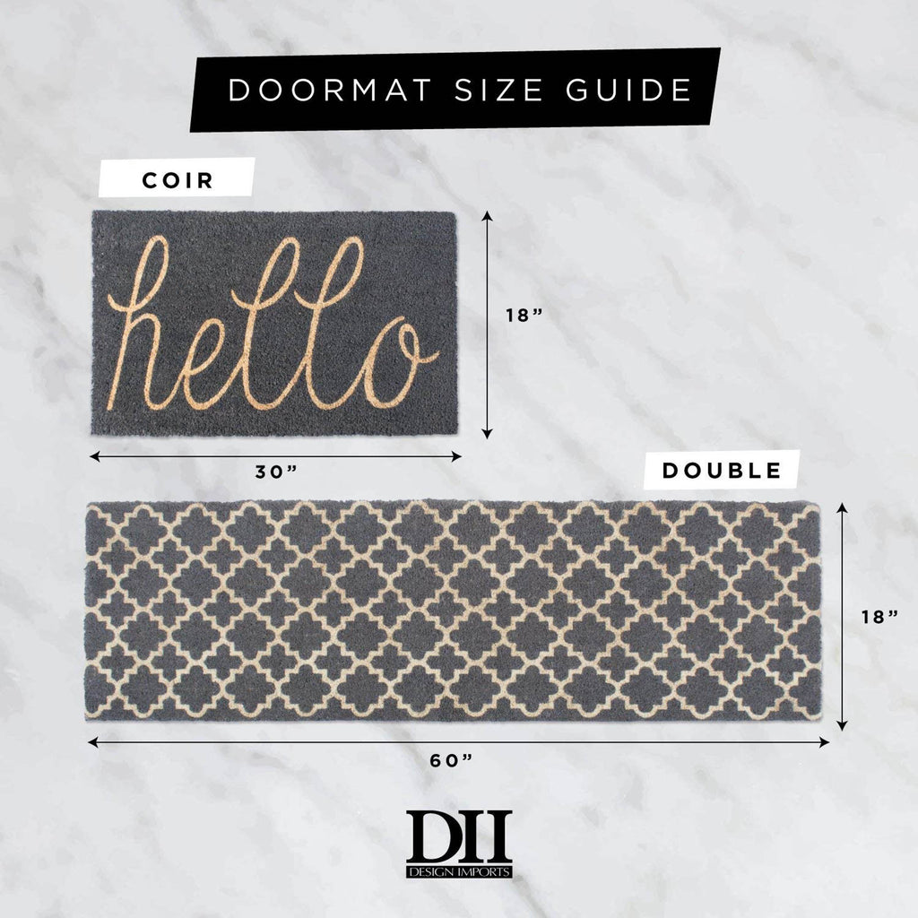 DII Blue Hello Doormat