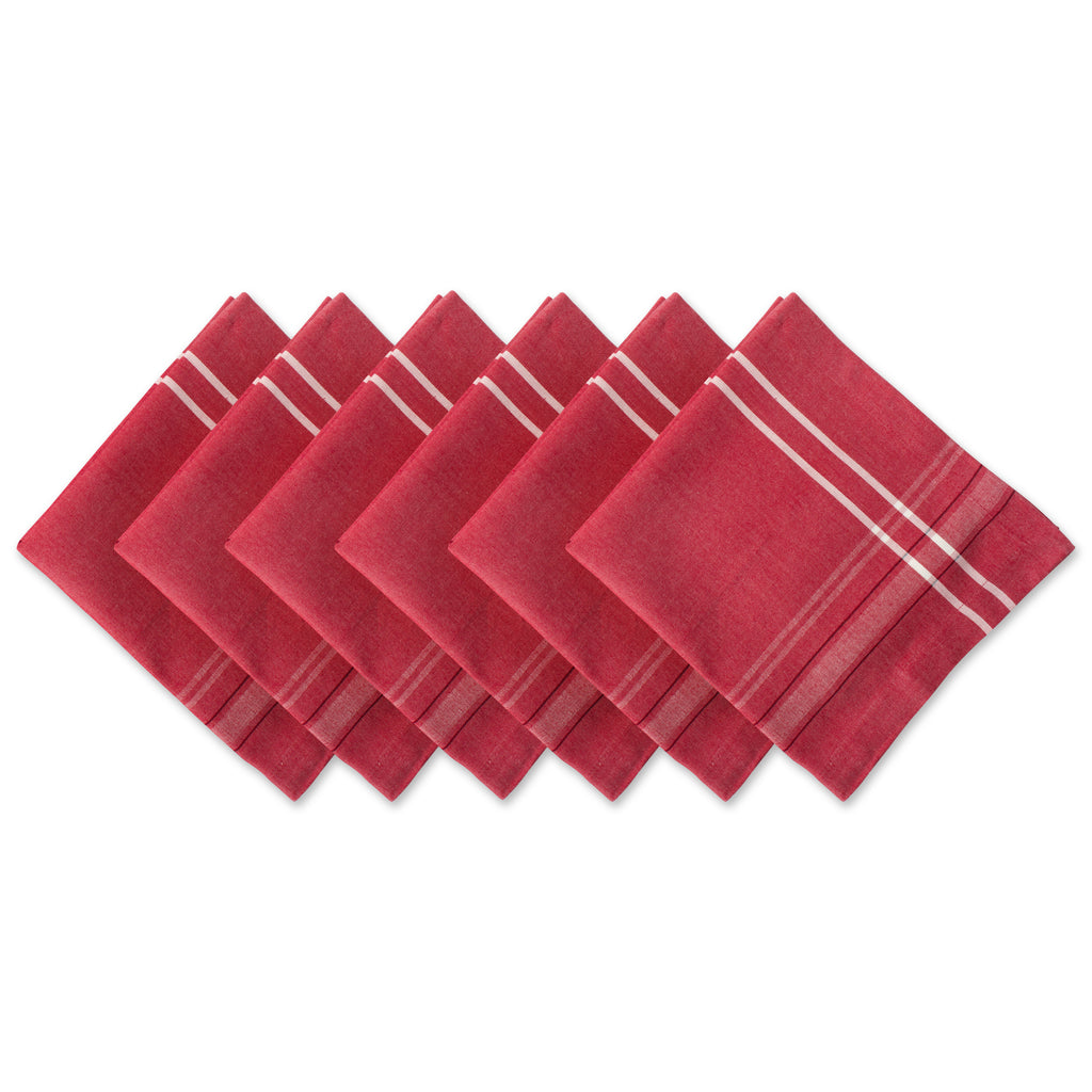 Tango Red French Chambray Napkin Set/6