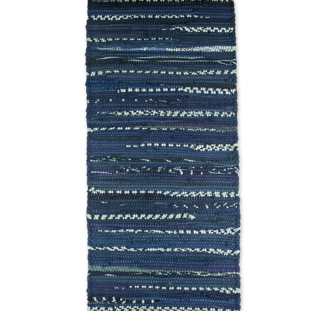 DII Multi Nautical Blue Chindi Rag Table Runner, 14x72""
