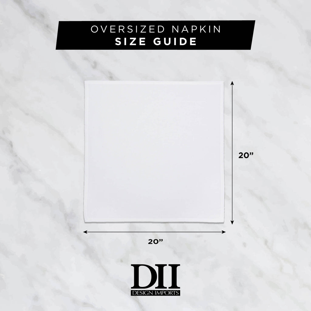 DII White Polyester Napkin (Set of 6)