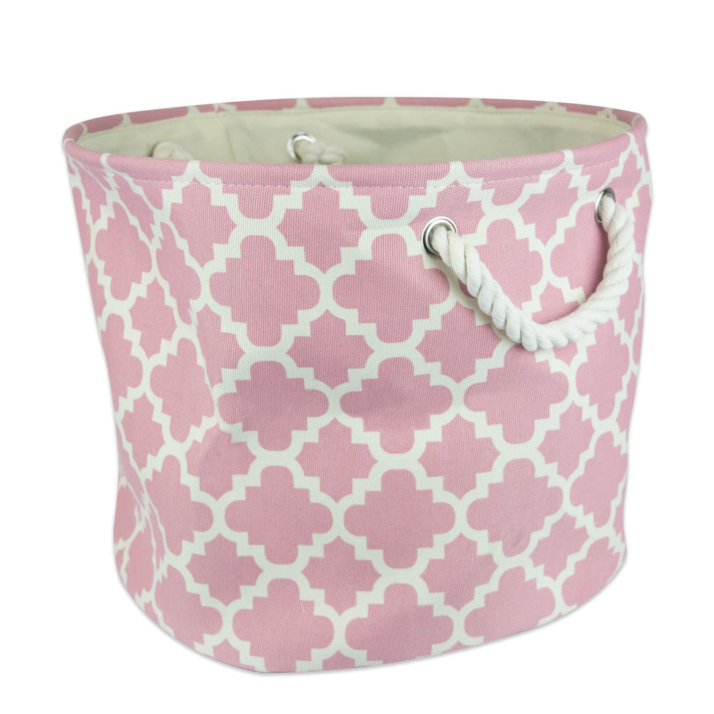 Polyester Bin Lattice Rose Round Medium 12x15x15
