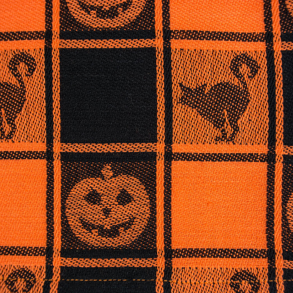 DII Halloween Woven Check Table Runner, 14x72""