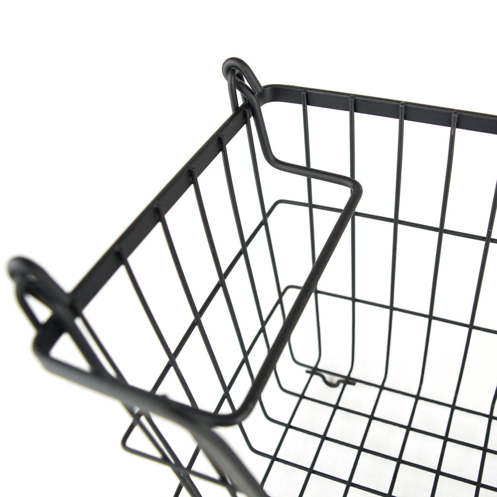 DII Metal Basket Black Rectangle Small