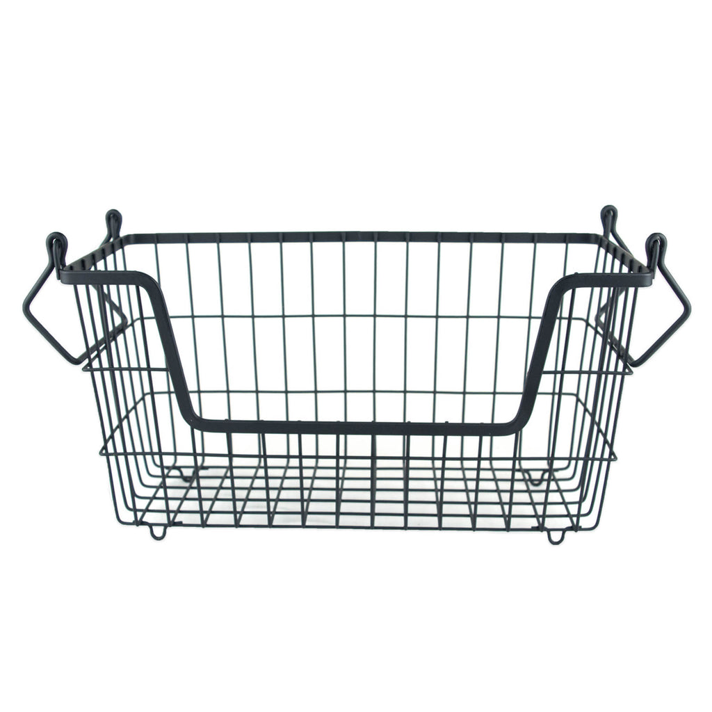 Metal Basket Black Rectangle Small 13x6x7