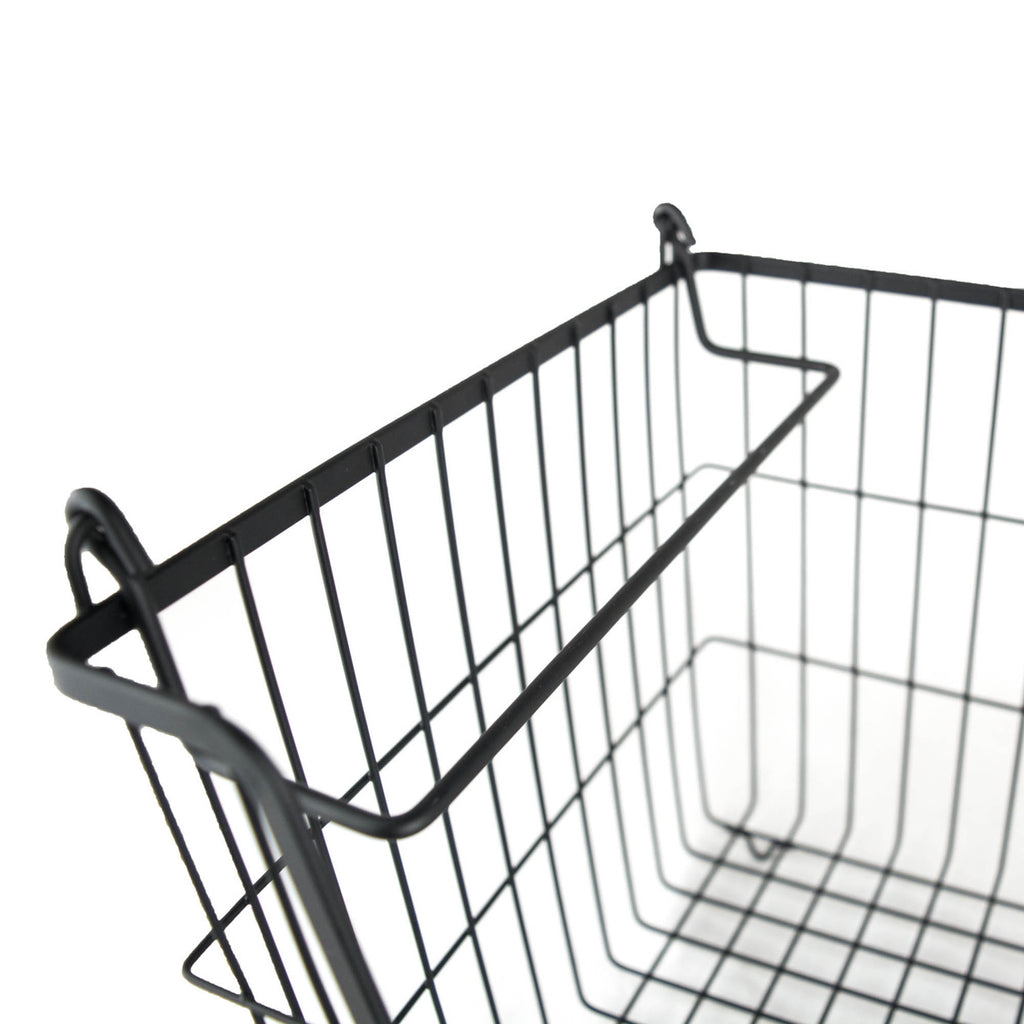 DII Metal Basket Black Rectangle Medium