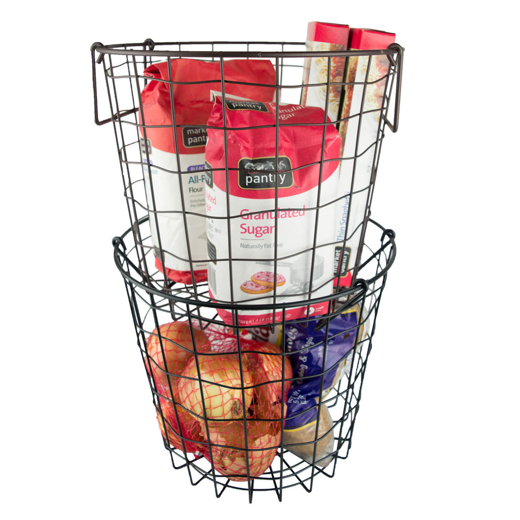 DII Metal Basket Bronze Round Small