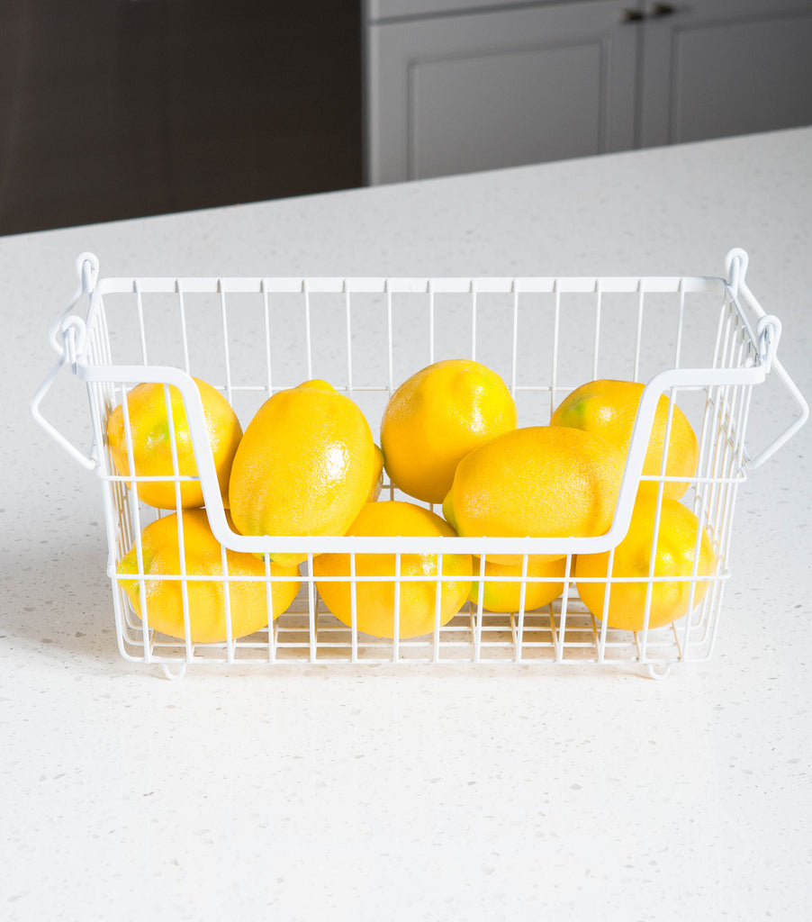 DII Metal Basket White Rectangle Small