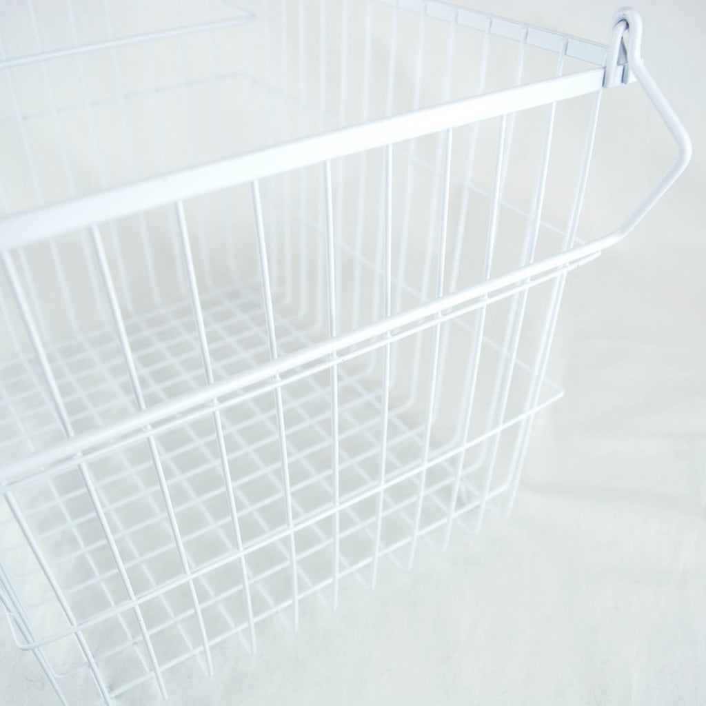 DII Metal Basket White Rectangle Large