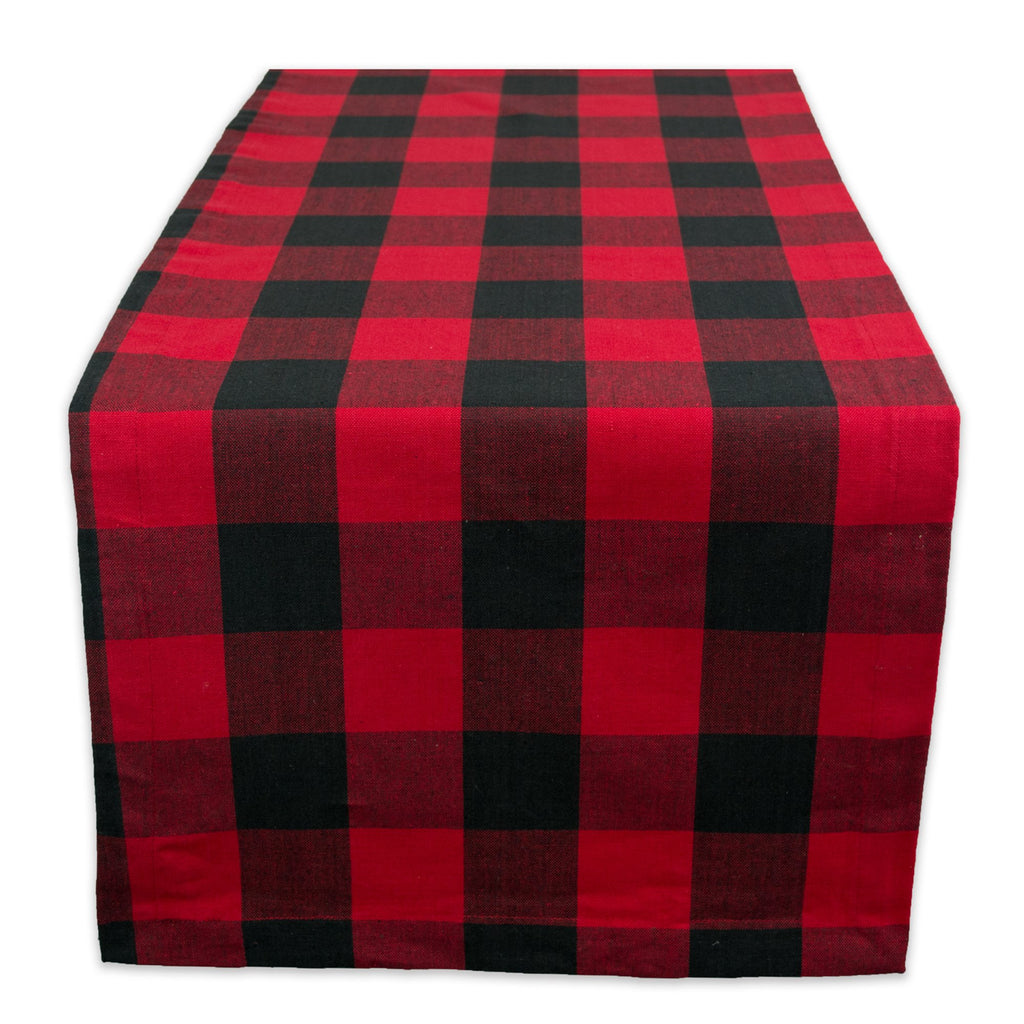 Red Buffalo Check Table Runner 14x108