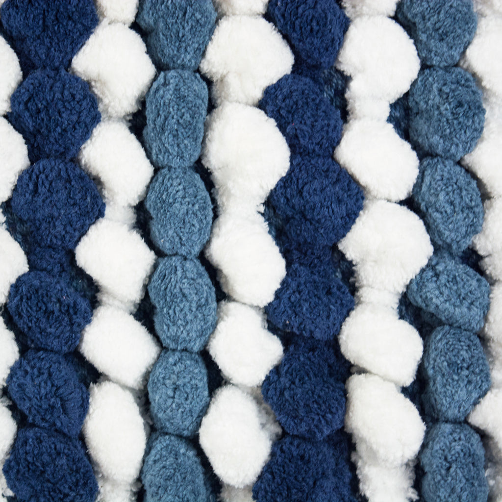 DII Blue Striped Microfiber Bath Mat