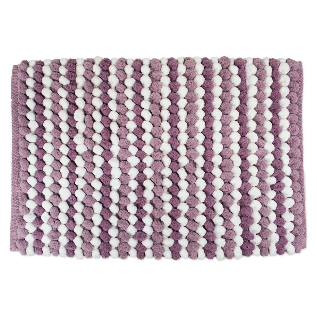 Bath Mf Mat Mauve Stripe 21x34