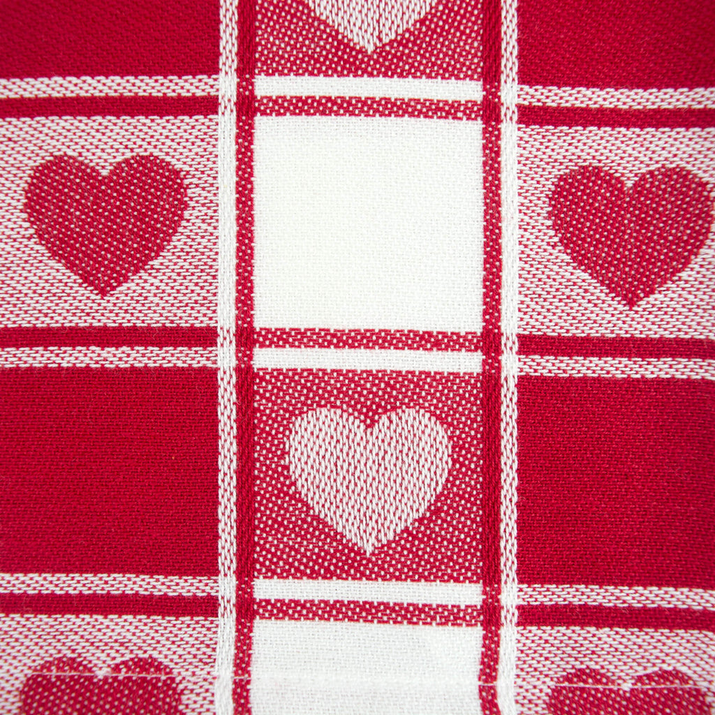 DII Hearts Woven Check Table Runner, 14x72""