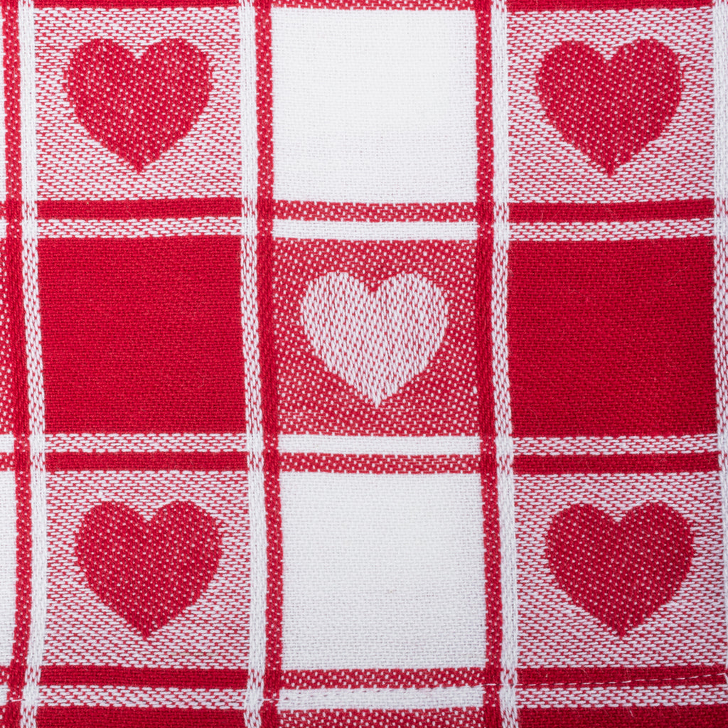DII Hearts Woven Check Napkin (Set of 6)