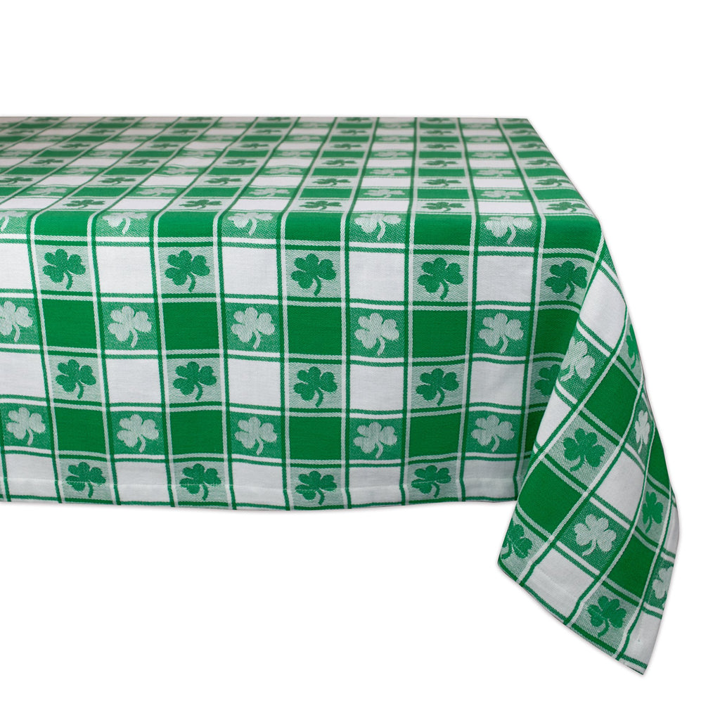 Shamrock Woven Check Tablecloth 52x52