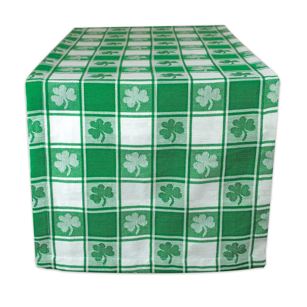 Shamrock Woven Check Table Runner 14x72