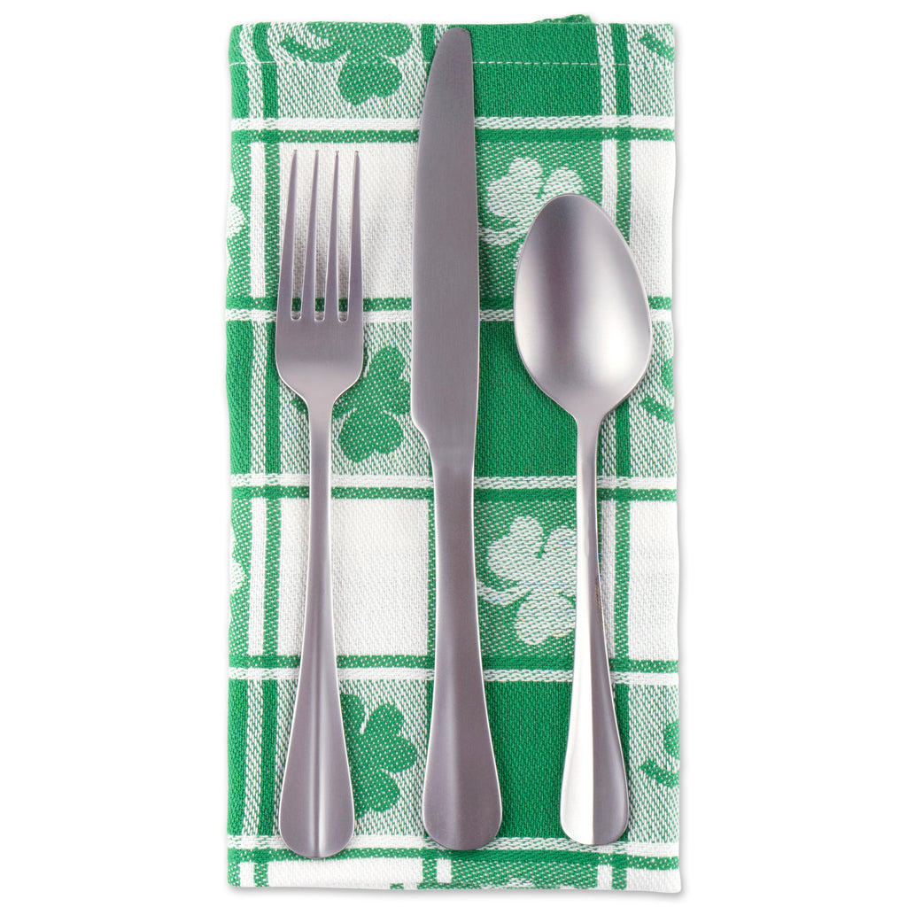 DII Shamrock Woven Check Napkin (Set of 6)