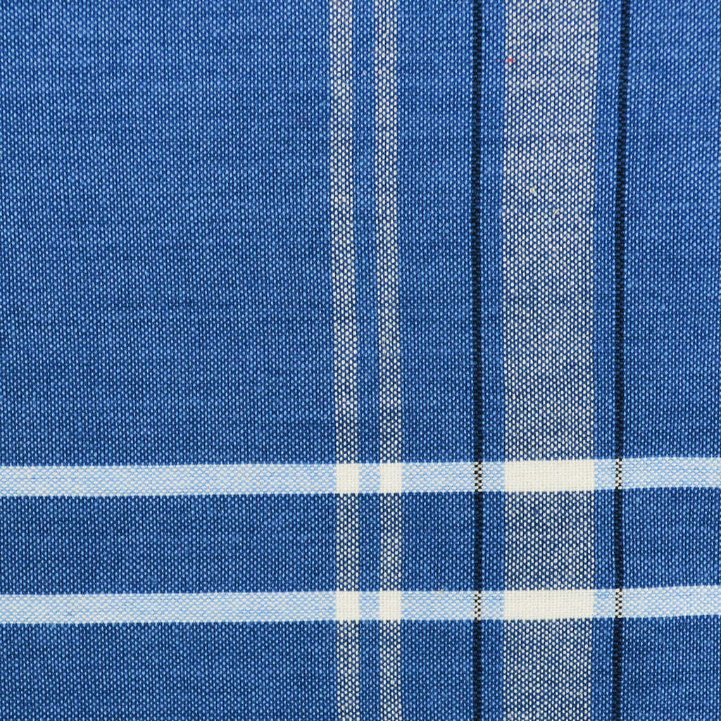 Chambray French Stripe Table Runner - Blue
