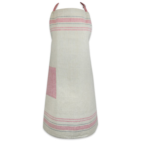 French Stripe Apron - Red
