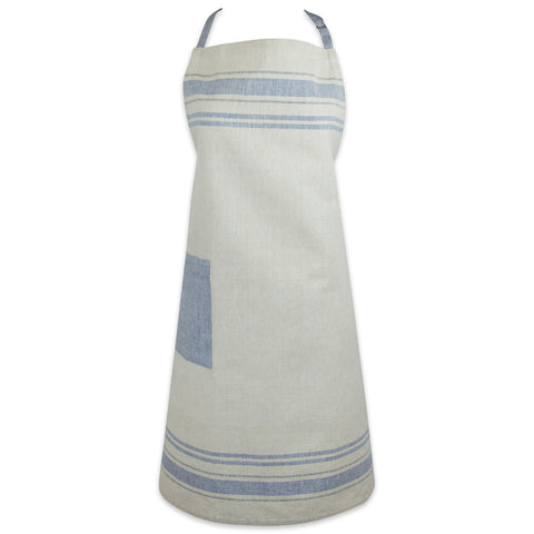 French Stripe Apron - Nautical Blue