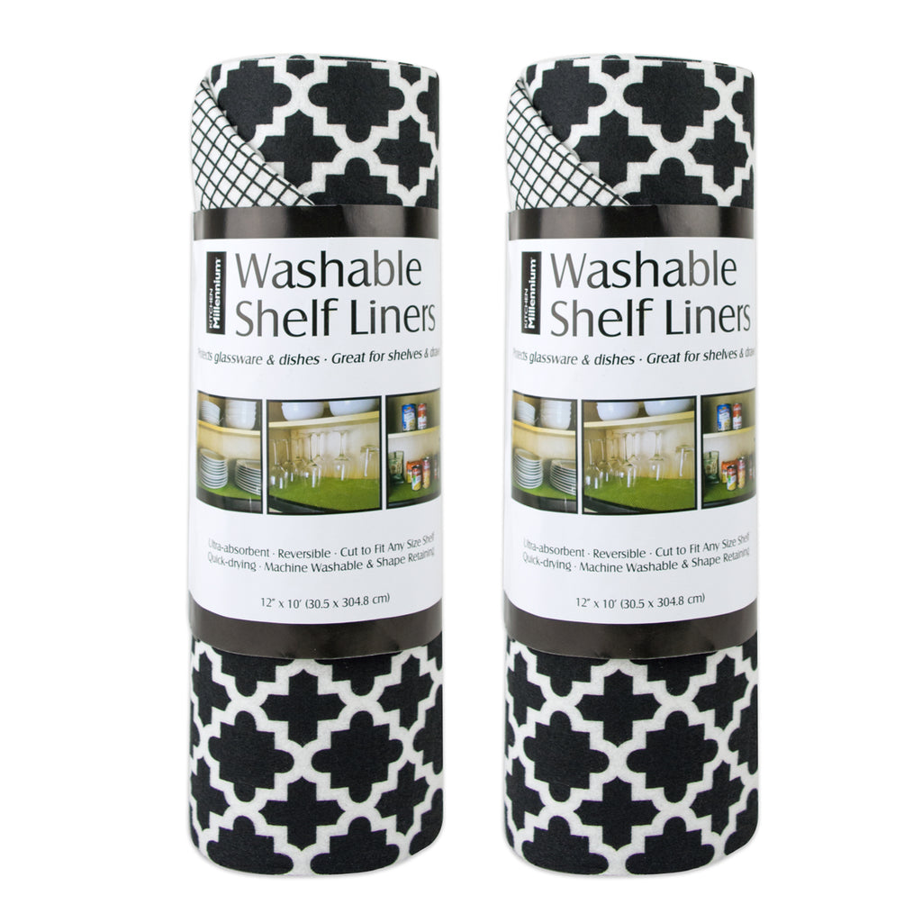 Black Lattice Shelf Liner Set/2