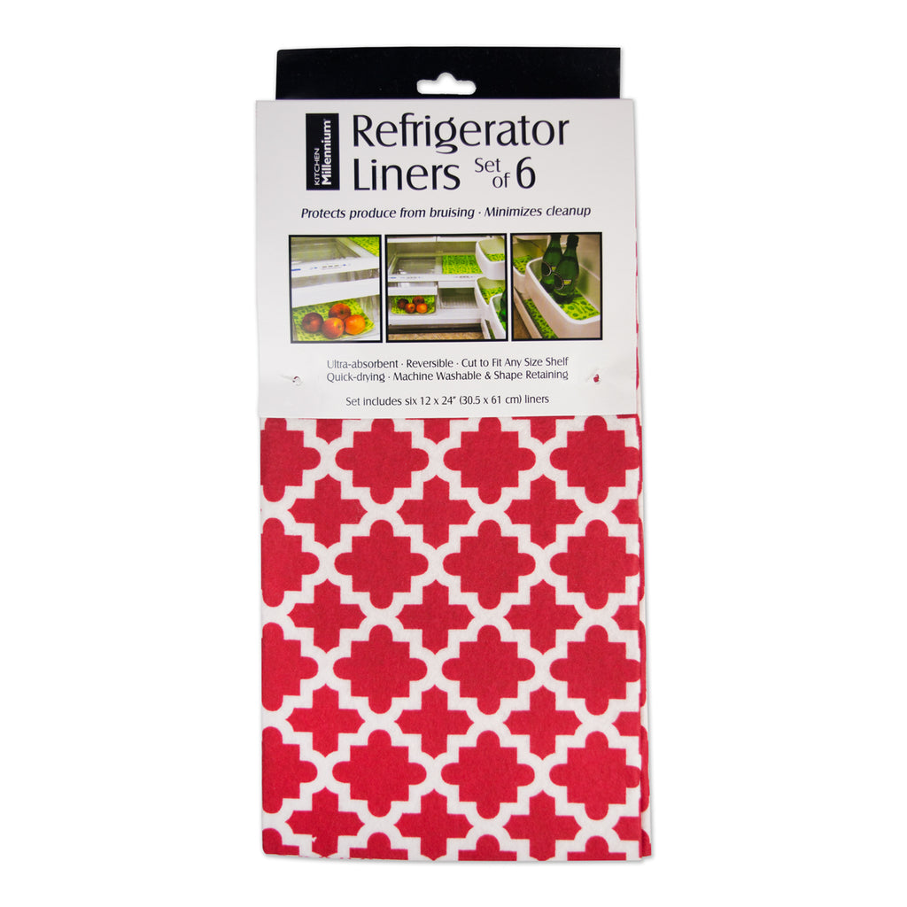 Tango Red Lattice Fridge Liner Set/6