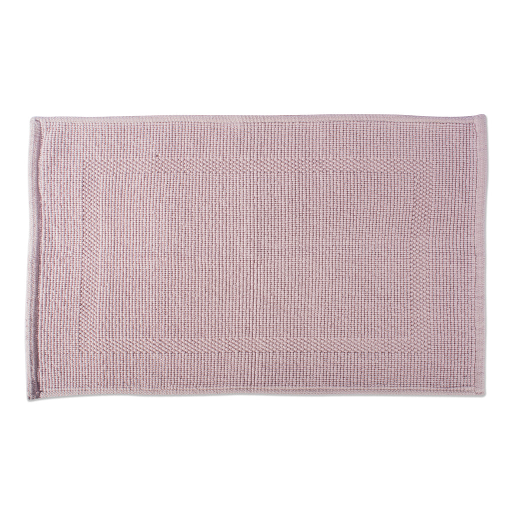 Mauve Jacquard Bordered Bath Mat