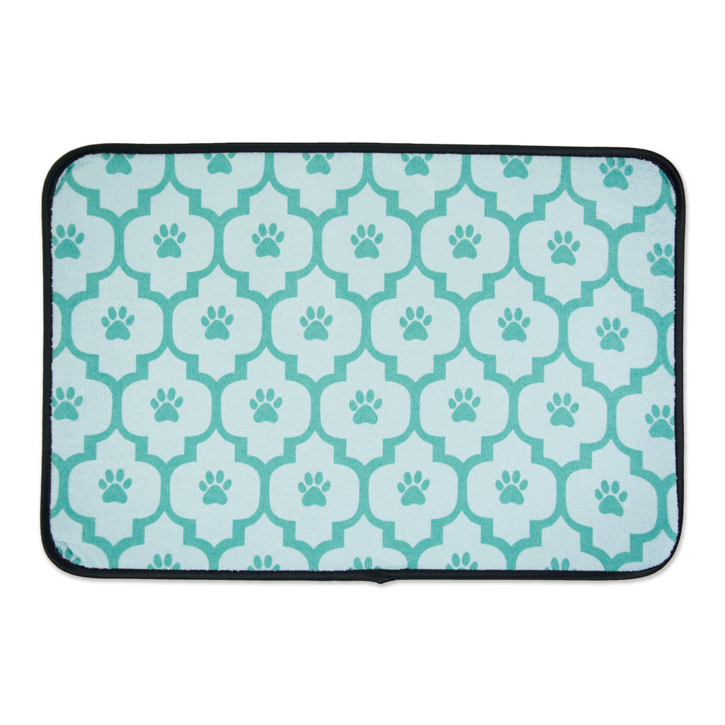 Aqua Lattice Paw Pet Mat