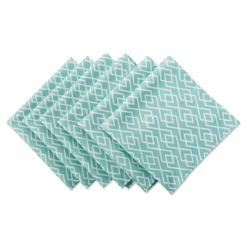 Diamond Print Outdoor Napkin Set/6