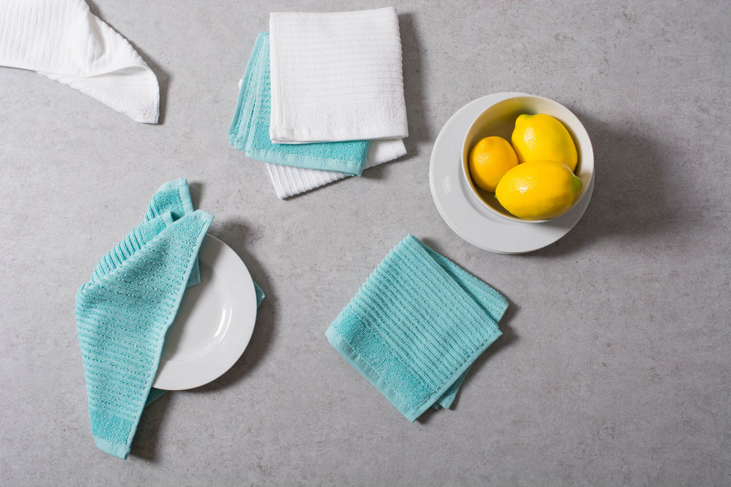 DII Aqua Basic Chef Terry Dishcloth (Set of 6)