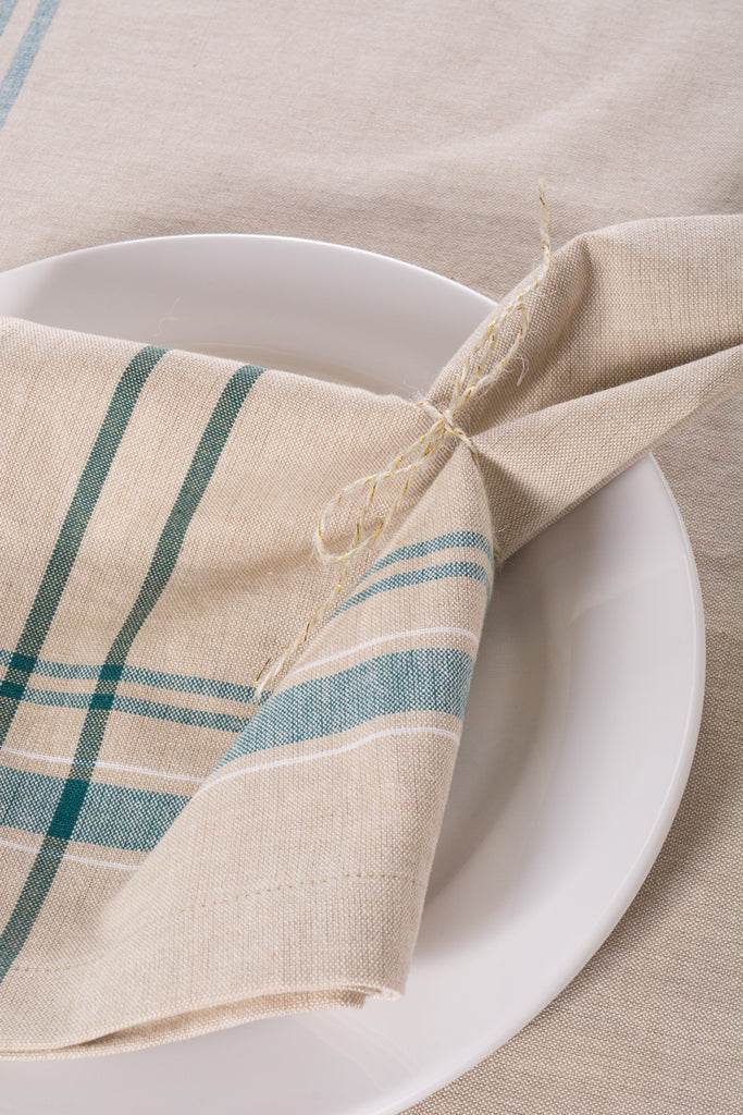 DII Teal French Stripe Napkin (Set of 6)