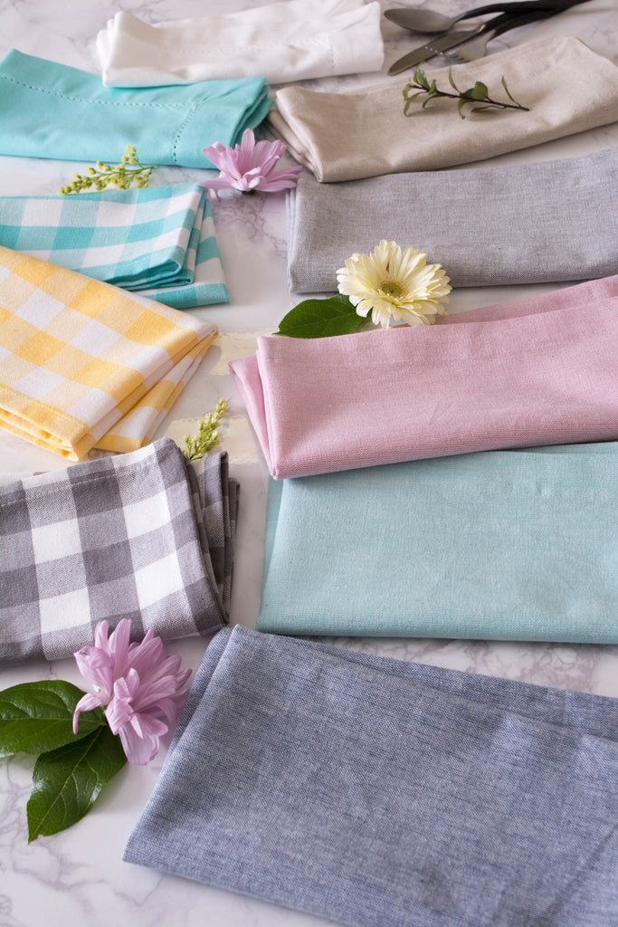DII Aqua Solid Chambray Napkin (Set of 6)