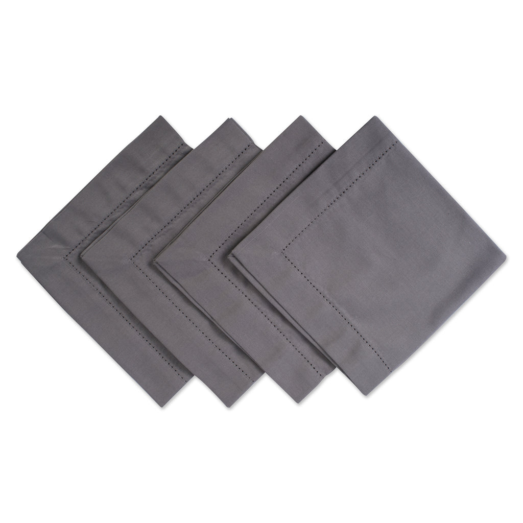 Gray Hemstitch Napkin Set/4