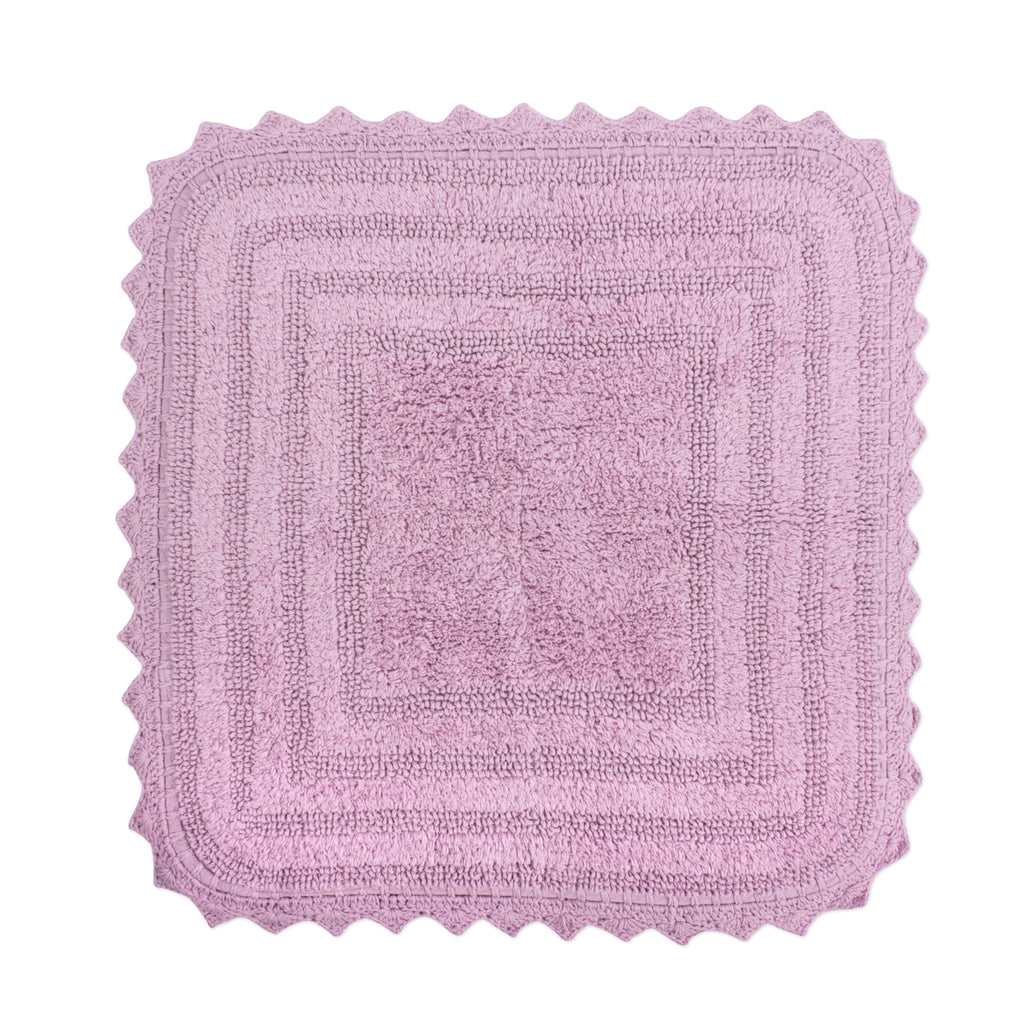 Mauve Square Crochet Bath Mat