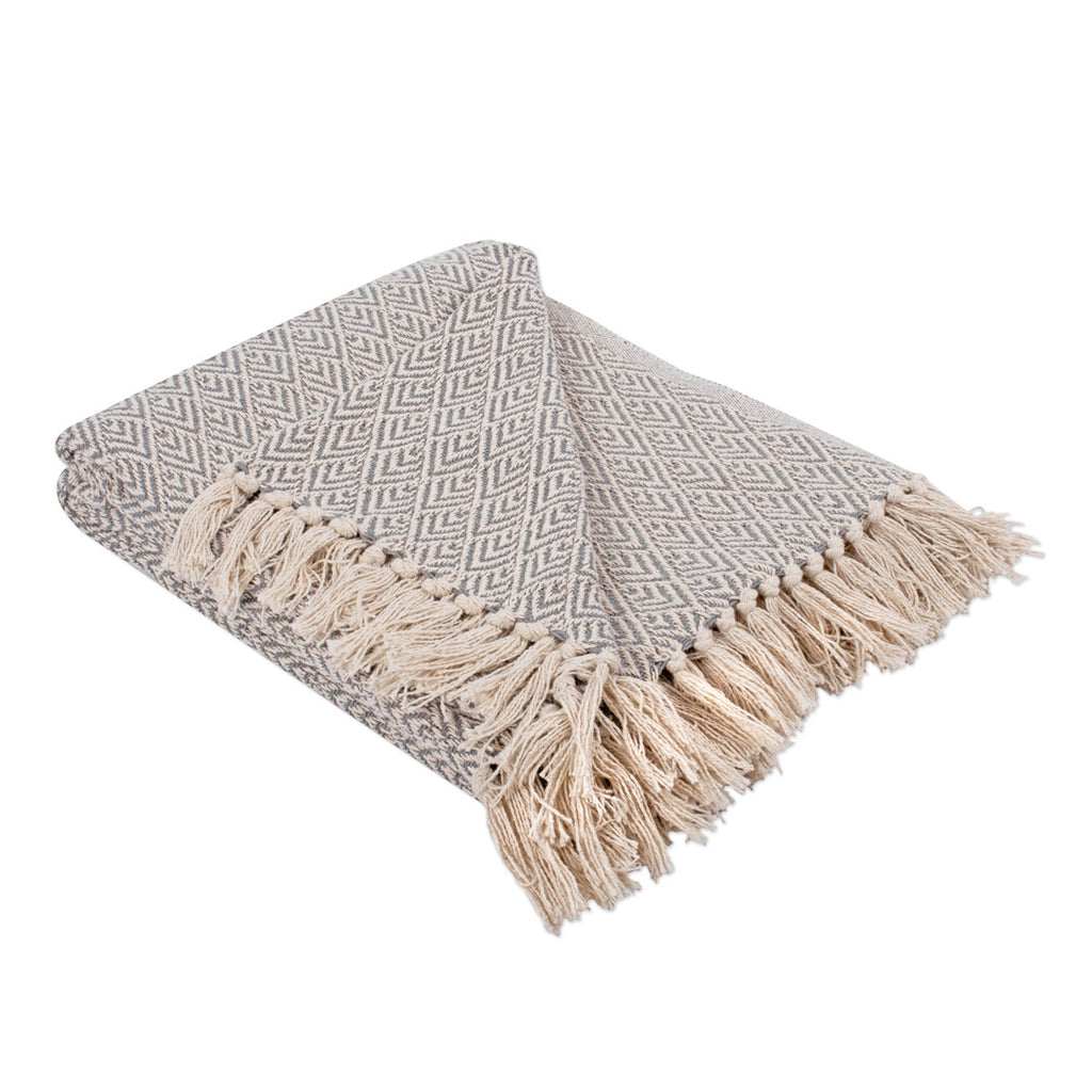 Gray Diamond Throw