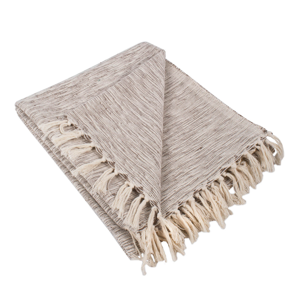 Brown Variegated Throw