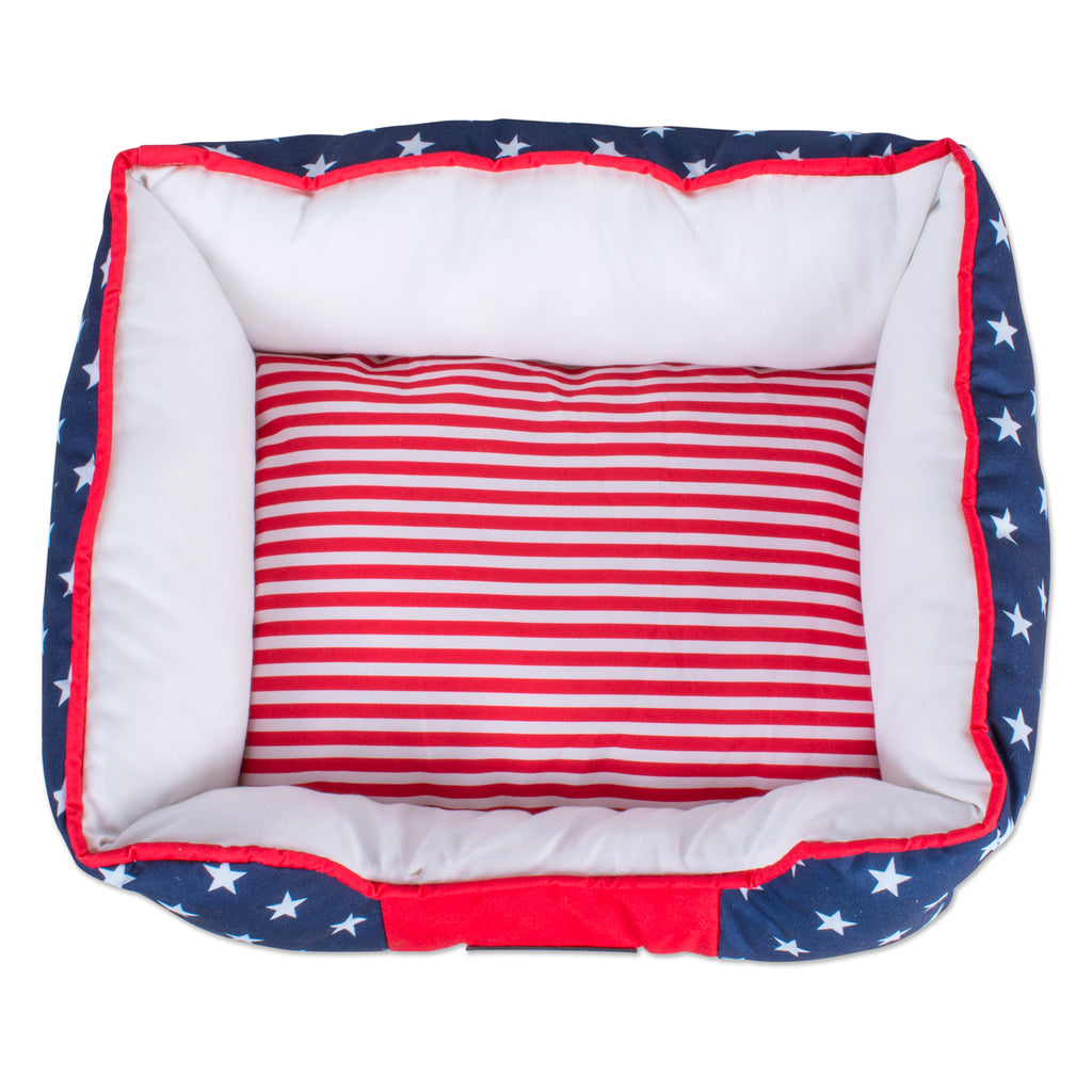 DII Stars & Stripes Rectangle Pet Bed Small