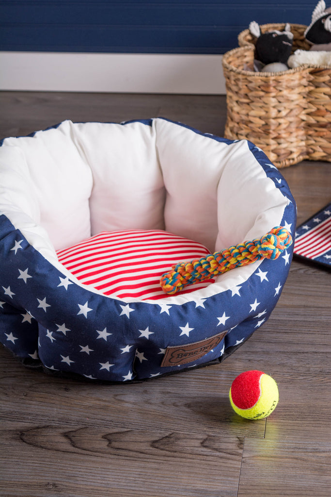 DII Stars & Stripes Pet Bed Circle Large
