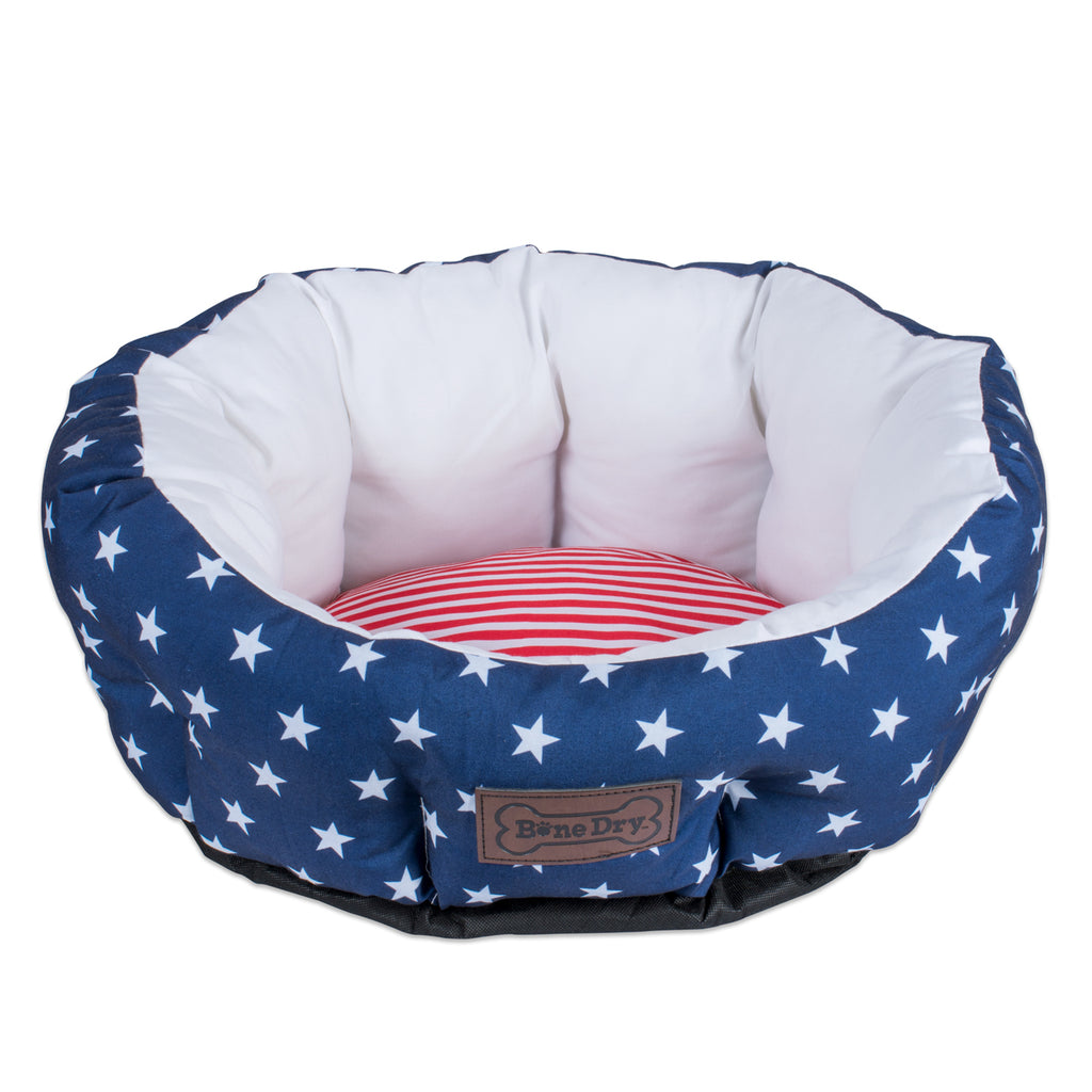 Stars & Stripes Pet Bed Circle Large 25x24x11