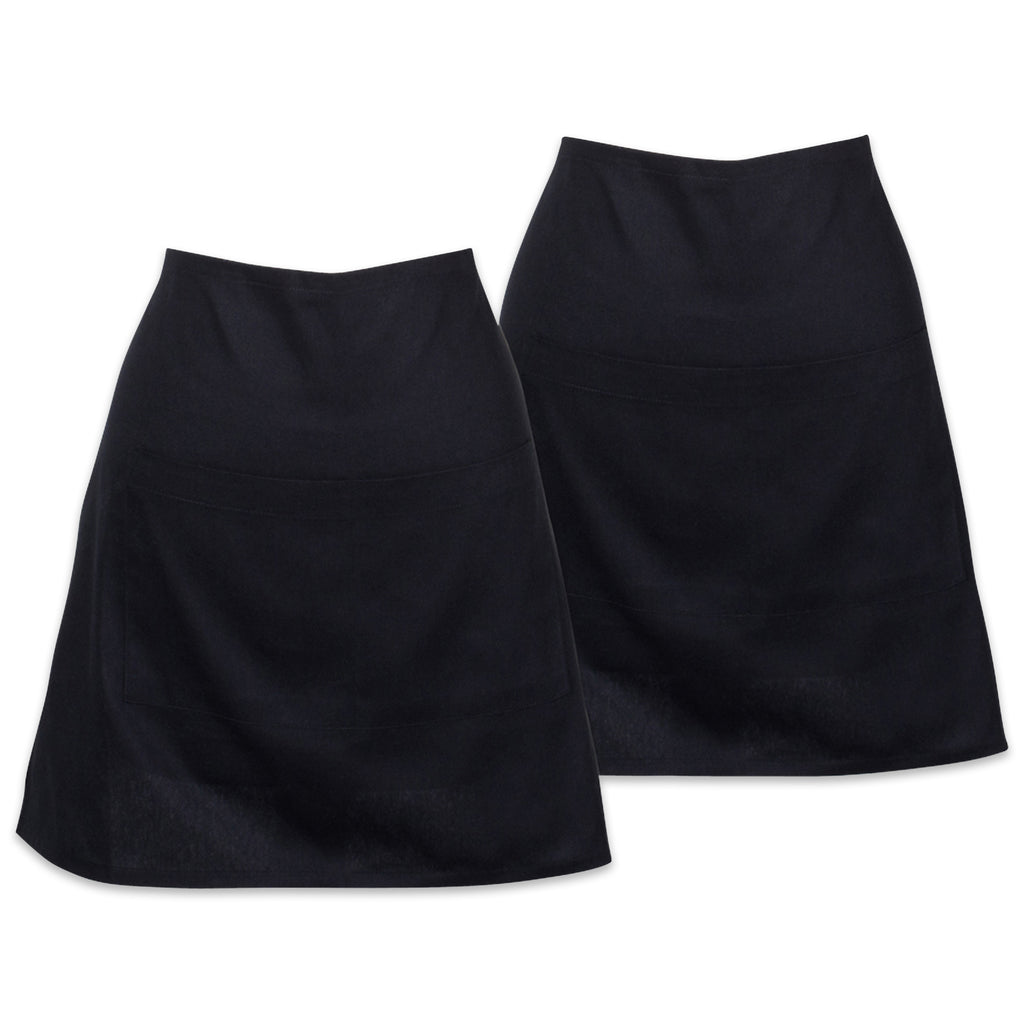 Black Waist Apron Set/2