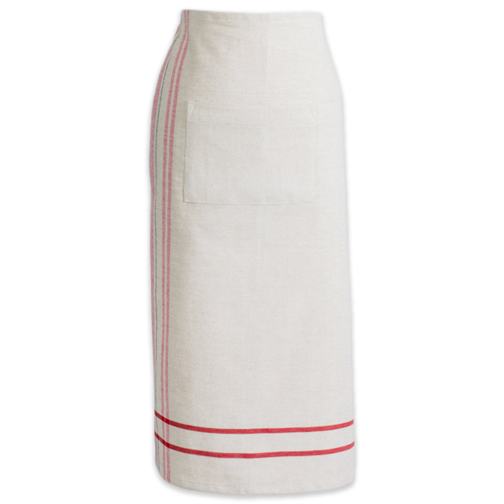 Red French Stripe Bistro Apron