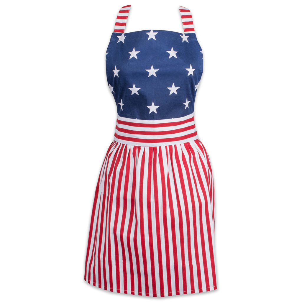 Red, White & Blue Skirt Apron