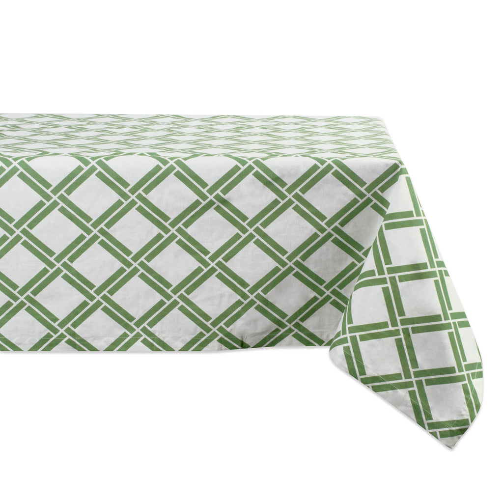 Bamboo Lattice Print Tablecloth 52x52