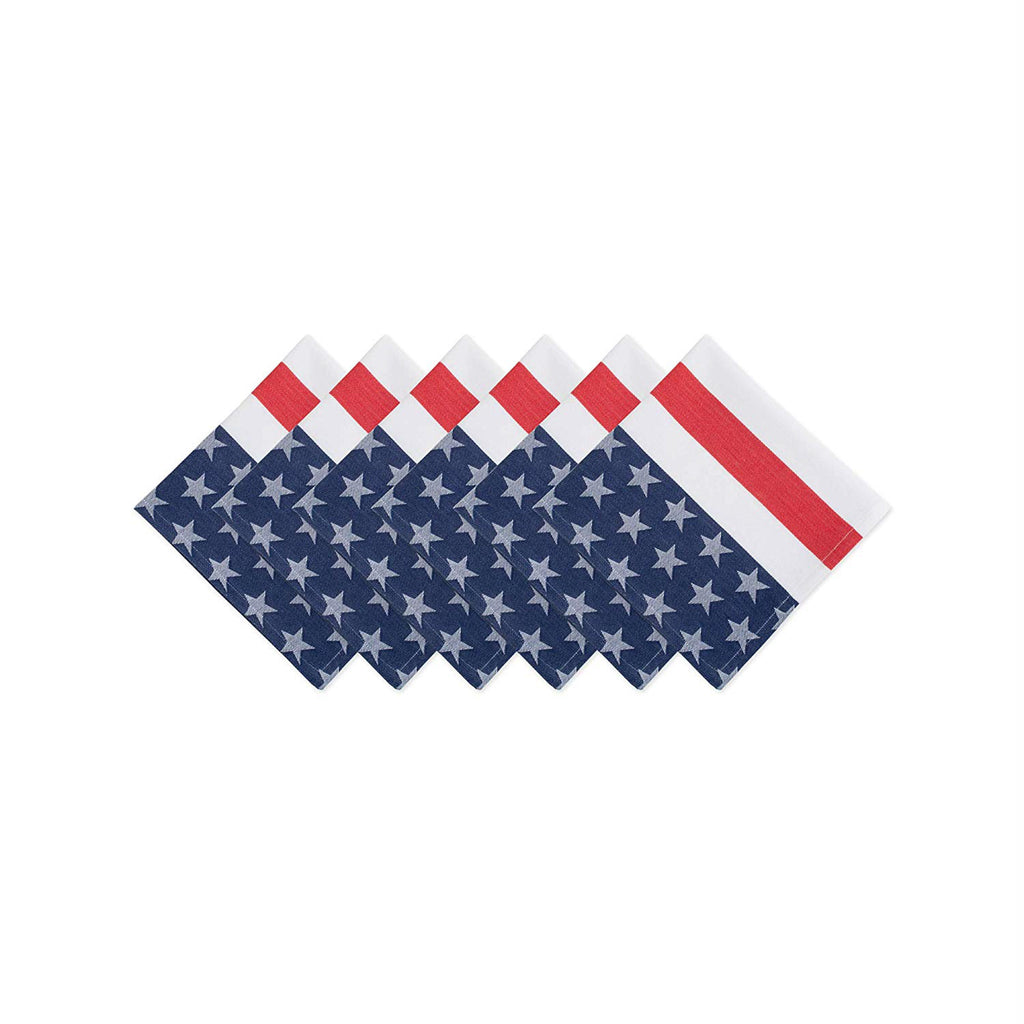 Stars & Stripe Napkin Set/6